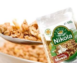 Фамилия Никола - Зърнени храни, мюсли и корнфлейкс