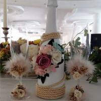 ритуални чаши и шампанско